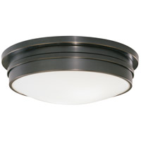 Robert Abbey Z1317 Roderick 3 Light 15 inch Deep Patina Bronze Flushmount Ceiling Light