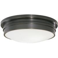 Robert Abbey Z1317 Roderick 3 Light 15 inch Deep Patina Bronze Flushmount Ceiling Light