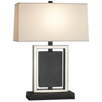 Robert Abbey Z153 Crispin 25 inch 150 watt Deep Patina Bronze with Antique Silver Table Lamp Portable Light