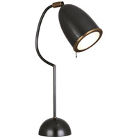 Robert Abbey Z1546 Director 24 inch 60 watt Deep Patina Bronze with Aged Brass Table Lamp Portable Light