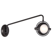Iris 24 inch 50 watt Deep Patina Bronze Swing Lamp Wall Light