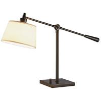 Real Simple 16 inch 100 watt Deep Bronze Powder Coat Table Lamp Portable Light in Snowflake