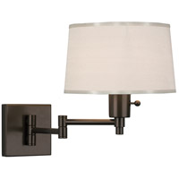 Robert Abbey Z1816 Real Simple 15 inch 60 watt Dark Bronze Wall Swinger Wall Light in Snowflake