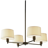 Robert Abbey Z1817 Real Simple 4 Light 15 inch Deep Bronze Chandelier Ceiling Light in Snowflake