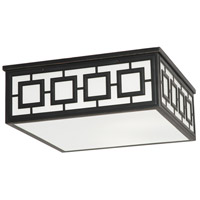 Jonathan Adler Parker 3 Light 17 inch Deep Patina Bronze Flush Mount Ceiling Light in White Glass