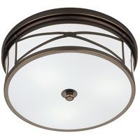 Robert Abbey Z1985 Chase 3 Light 15 inch Deep Patina Bronze Flushmount Ceiling Light