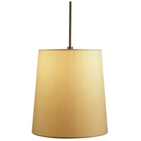 Robert Abbey Z2055 Rico Espinet Buster 1 Light 15 inch Deep Patina Bronze Pendant Ceiling Light in Muslin Claiborne