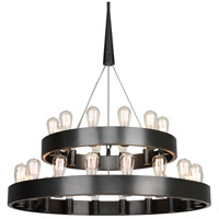 Robert Abbey Z2099 Rico Espinet Candelaria 30 Light 15 inch Deep Patina Bronze Chandelier Ceiling Light