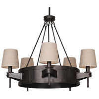 Robert Abbey Caspian 5 Light Chandelier in Bz Z2103
