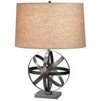 Robert Abbey Z2160 Lucy 23 inch 150 watt Deep Patina Bronze Accent Lamp Portable Light in Driftwood Linen