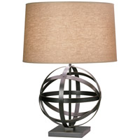Robert Abbey Z2161 Lucy 29 inch 150 watt Deep Patina Bronze Table Lamp Portable Light in Driftwood Linen
