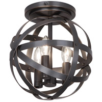 Robert Abbey Z2166 Lucy 3 Light 10 inch Deep Patina Bronze Flushmount Ceiling Light
