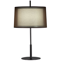 Robert Abbey Z2180 Saturnia 30 inch 150 watt Deep Patina Bronze Table Lamp Portable Light in Bronze Transparent With Ascot White