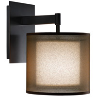 Robert Abbey Z2182 Saturnia 1 Light 8 inch Deep Patina Bronze Wall Sconce Wall Light in Bronze Transparent With Ascot White