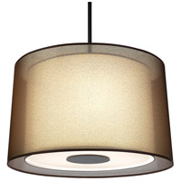 Robert Abbey Z2183 Saturnia 3 Light 15 inch Deep Patina Bronze Pendant Ceiling Light in Bronze Transparent With Ascot White