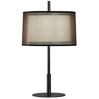 Robert Abbey Z2184 Saturnia 23 inch 60 watt Deep Patina Bronze Accent Lamp Portable Light in Bronze Transparent With Ascot White