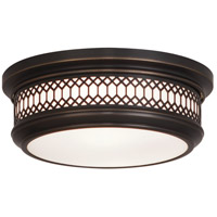 Robert Abbey Z306 Williamsburg Tucker 2 Light 15 inch Deep Patina Bronze Flushmount Ceiling Light
