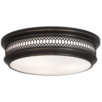 Robert Abbey Z307 Williamsburg Tucker 3 Light 15 inch Deep Patina Bronze Flushmount Ceiling Light