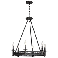 Robert Abbey Z308 Williamsburg Tucker 6 Light 27 inch Deep Patina Bronze Chandelier Ceiling Light