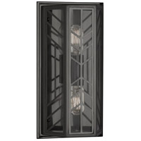 Robert Abbey Z3400 Octavius 2 Light 8 inch Deep Patina Bronze Wall Sconce Wall Light in Clear Glass