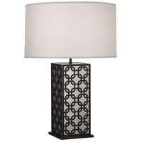 Robert Abbey Z373 Williamsburg Dickinson 29 inch 150 watt Deep Patina Bronze with Antique Silver Table Lamp Portable Light