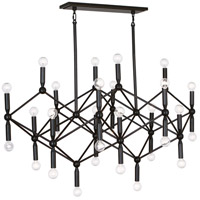 Robert Abbey Z399 Jonathan Adler Milano 30 Light 27 inch Deep Patina Bronze Chandelier Ceiling Light