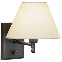 Robert Abbey Z427X Meilleur 1 Light 8 inch Deep Patina Bronze Wall Sconce Wall Light in Light Beige Linen