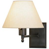 Robert Abbey Z428X Meilleur 9 inch 100 watt Deep Patina Bronze Wall Swinger Wall Light in Light Beige Linen