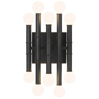 Robert Abbey Z686 Jonathan Adler Meurice 10 Light 8 inch Deep Patina Bronze Wall Sconce Wall Light