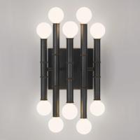 Robert Abbey Z686 Jonathan Adler Meurice 10 Light 8 inch Deep Patina Bronze Wall Sconce Wall Light