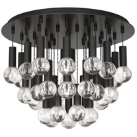 Robert Abbey Z754 Jonathan Adler Milano 1 Light 15 inch Deep Patina Bronze with Crystal Flush Mount Ceiling Light, Lucite Accents