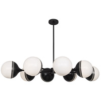 Robert Abbey Z790 Jonathan Adler Rio 8 Light 50 inch Deep Patina Bronze Chandelier Ceiling Light