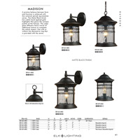 Spark & Spruce 24311-MB View 1 Light 11 inch Matte Black Outdoor Hanging Light alternative photo thumbnail