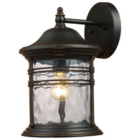 Spark & Spruce 24312-MB View 1 Light 11 inch Matte Black Outdoor Sconce