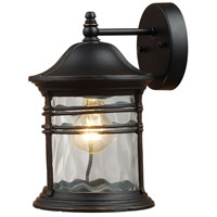 Spark & Spruce 24313-MB View 1 Light 14 inch Matte Black Outdoor Sconce