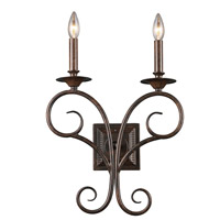 Spark & Spruce 24392-AB Pepper 2 Light 14 inch Antique Bronze Sconce Wall Light
