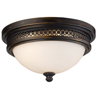 Spark & Spruce 23457-DROW Heron 2 Light 13 inch Deep Rust Flush Mount Ceiling Light in Standard