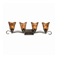 Spark & Spruce 23539-OR Morton 4 Light 34 inch Oil Rubbed Bronze Vanity Strip Wall Light