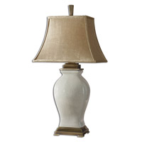 Spark & Spruce 23524-CA Zinnia 33 inch 100 watt Crackled Aged Ivory Glaze Over Porcelain Table Lamp Portable Light