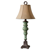 Spark & Spruce 20020-AA Marietta 39 inch 150 watt Antiqued Aqua Blue Glaze Table Lamp Portable Light