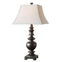 Spark & Spruce 23571-LD Pinch 33 inch 150 watt Lightly Distressed Textured Dark Bronze Table Lamp Portable Light