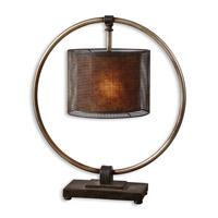 Spark & Spruce 20038-RD Ines 28 inch 100 watt Rustic Dark Bronze Table Lamp Portable Light