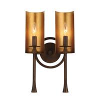 Spark & Spruce 24934-CBI Wylan 2 Light 10 inch Chestnut Bronze and Gold Bath Vanity Wall Light