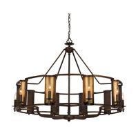 Spark & Spruce 24937-CBI Wylan 10 Light 42 inch Chestnut Bronze and Gold Chandelier Ceiling Light