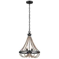 Spark & Spruce 24228-WP Clearwater 2 Light 13 inch Washed Pine Chandelier Ceiling Light