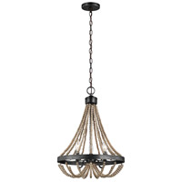Spark & Spruce 24230-WP Clearwater 3 Light 16 inch Washed Pine Chandelier Ceiling Light