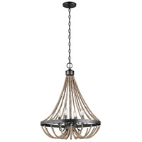 Spark & Spruce 24232-WP Clearwater 4 Light 20 inch Washed Pine Chandelier Ceiling Light