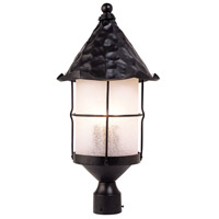 Spark & Spruce 24485-MBS Greenville 3 Light 26 inch Matte Black Post Mount