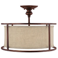 Burnished Bronze Semi-Flush Mounts