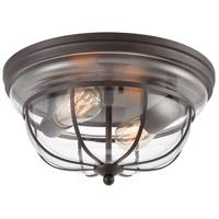 Spark & Spruce 24555-ORCI Donley 2 Light 13 inch Oil Rubbed Bronze Flush Mount Ceiling Light